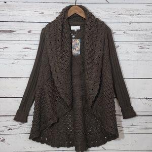 Spiegel Chunky Knit Waterfall Cardigan XS NWT
